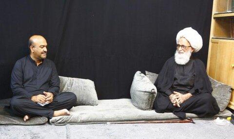 آیت اللہ العظمی حافظ بشیر نجفی کی خدمت میں معاون خصوصی وزیر اعظم پاکستان