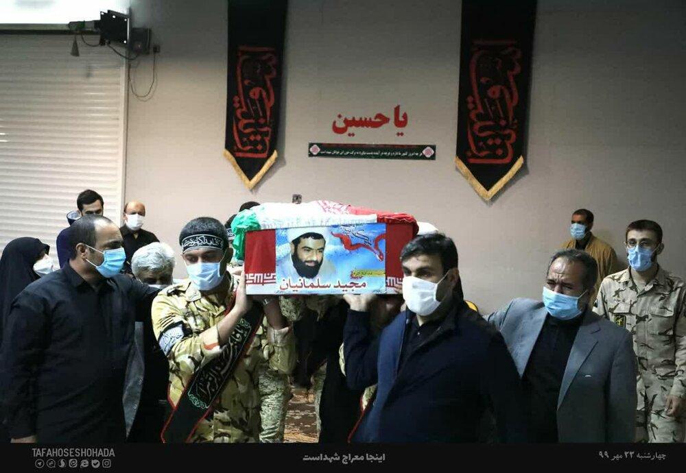 تصاویر/ وداع خانواده با روحانی شهید مدافع حرم مجید سلیمانیان