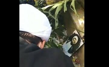 فیلم | مزار شهید مدافع حرم حجت الاسلام مجید سلیمانیان