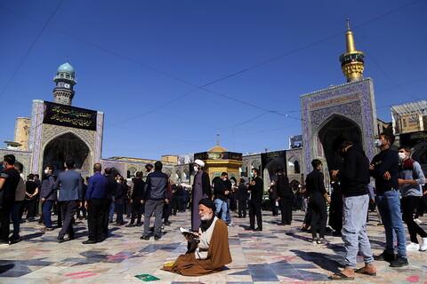 تصاویر/ حال و هوای حرم رضوی در روز رحلت پیامبر اکرم (ص) و شهادت امام حسن مجتبی(ع)