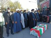 پیکر شهید امنیت، داراب امرانی در یاسوج تشییع شد + عکس