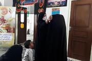 بانوی مهریزی در مراسم شهادت امام رئوف پس از پوشیدن چادر سجده کرد+ عکس