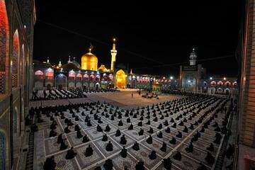 تصاویر/ آئین خطبه خوانی در شب شهادت امام رضا (ع)