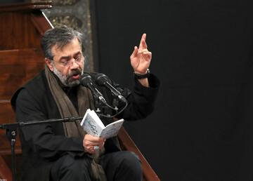 فیلم | مداحی حاج محمود کریمی در حضور رهبر انقلاب