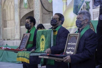 تصاویر/ مراسم عزاداری شهادت حضرت علی بن موسی الرضا(ع) در یزد