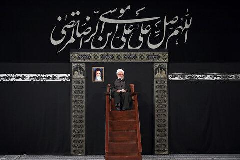 مجلس عزاء ذكرى استشهاد الإمام الرّضا (ع) بحضور الإمام الخامنئي