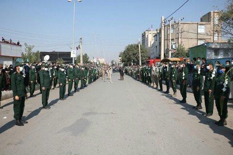 تصاویر/ مراسم تشییع شهید مدافع حرم «زکریا شیری» در قزوین