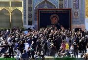 بالصور/ أجواء الحزن في الحرم الرضوي الشريف يوم استشهاد ثامن الحجج (ع) في آخر شهر صفر الأحزان
