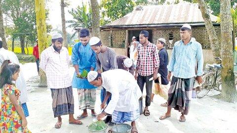 مسجدی در بنگلادش، محل همدلی مسلمانان دو کشور همسایه