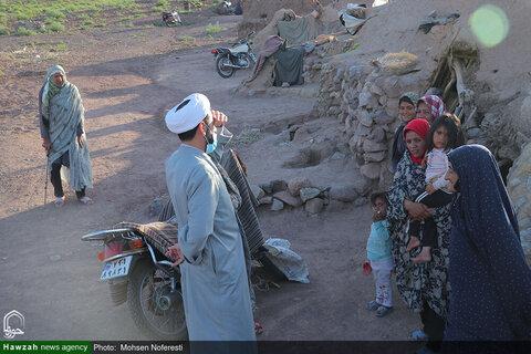 بالصور/ مساعدات مدرسة الإمام الحسن المجتبى (ع) العلمية بمدينة بيرجند شرقي إيران