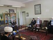 تصاویر/ جلسه شورای وقف در مدرسه علمیه کامیاران