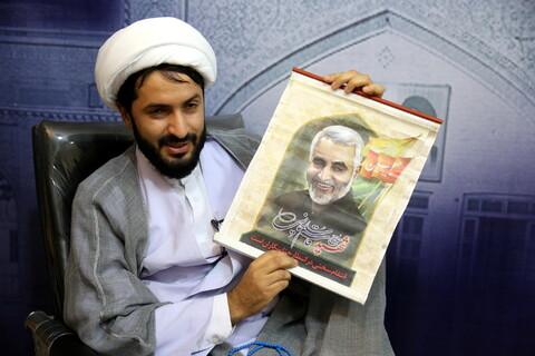تصاویر/ مصاحبه-حجت الاسلام حسن لطفیان طلبه هنرمند واجرا کننده برنامه ویزه کودکان در تلوزیون