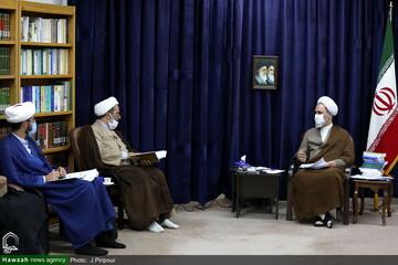گزارش مدیر حوزه علمیه کرمانشاه از فعالیت ها به آیت الله اعرافی