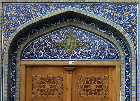 تصاویری از کاشیکاریهای قدیمی حرم امام رضا(ع)