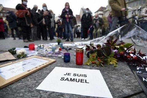 مسلمانان بلژیک قتل معلم به دست افراطگرایان در پاریس را محکوم کردند