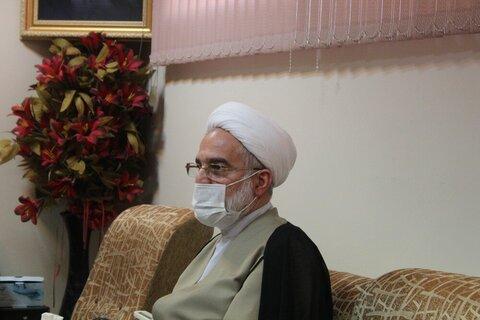 بالصور/ اجتماع مجلس المؤسسات العليا للحوزة بمشاركة ممثل الولي الفقيه في محافظة كردستان الإيرانية