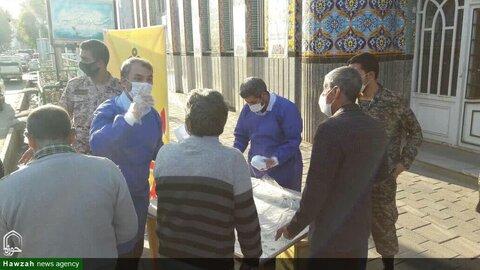 بالصور/ توزيع المساعدات الغذائية لدائرة أوقات محافظة أذربيجان الغربية في مشروع التعاطف الوطني في إيراني