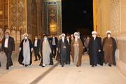 تصاویر/ دیدار آیت الله اعرافی با نماینده ولی فقیه در استان فارس
