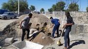 تصاویر/ فعالیت گروه جهادی طلاب مدرسه علمیه مولود کعبه شهرستان جاسک در مناطق سیل زده شرق