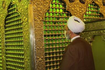 تصاویر/ حضور آیت الله اعرافی در حرم مطهر شاهچراغ(ع)