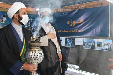 آیت الله اعرافی از غرفه خبرگزاری حوزه در شیراز بازدید کرد