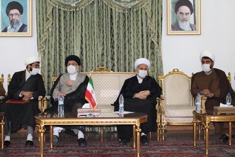 تصاویر| ورود آیت الله اعرافی به شیراز