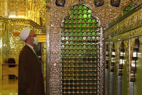 تصاویر| تشرف آیت الله اعرافی به حرم مطهر شاهچراغ(ع)