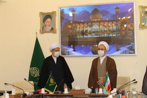 تصاویر| دیدار آیت الله اعرافی با نماینده ولی فقیه در فارس