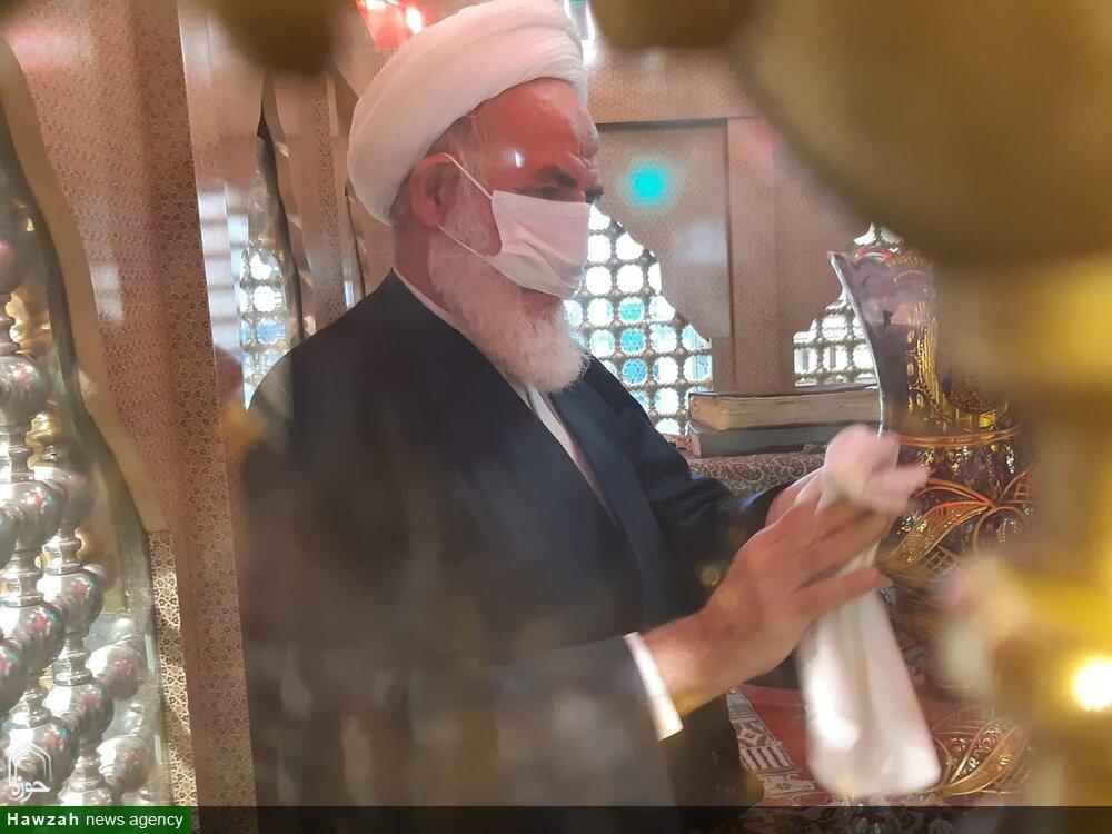تصاویر/  غبارروی بارگاه مقدس امامزاده سلطان امیر احمد (ع) کاشان