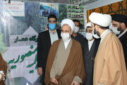 فیلم| بازدید آیت اله اعرافی از غرفه قرارگاه تبلیغی مدرسه علمیه منصوریه شیراز