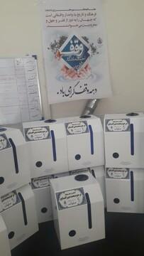 اهدای ۱۳ دستگاه ضدعفونی کننده دست به هلال احمر از محل موقوفات کاشان