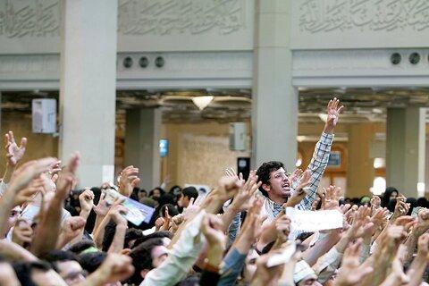 بازنشر/ تصاویر دیدار دانشجویان و جوانان قم با رهبر معظم انقلاب ۴ آبان ۸۹