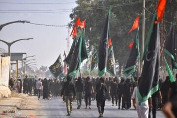 تصاویر/ پیاده روی زائران در مسیر حرم امامین عسکریین (علیهما السلام)