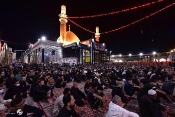 تصاویر/ عزاداری شهادت امام حسن عسکری (ع) در حرم سامرا