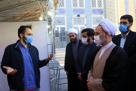 بازدید آیت الله اعرافی از نمایشگاه هوش مصنوعی و علوم اسلامی