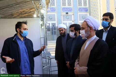 بالصور آية الله الأعرافي يتفقد معرض الذكاء الصطناعي والعلوم الإسلامية بقم المقدسة