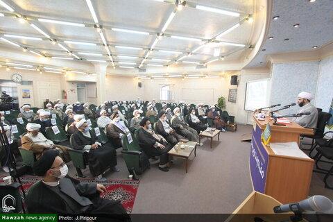 بالصور/ اجتماع ممثلي طلاب حوزة قم العلمية وفضلائها مع رئيس منظمة التبليغ الإسلامي في البلاد بقم المقدسة