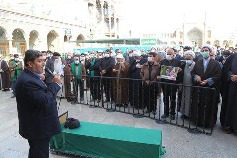 تصاویر / مراسم تشییع آیت الله حاج سید رضا فاضلیان در قم