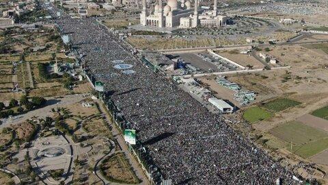 حضور میلیونی یمنی ها در جشن میلاد نبی مکرم اسلام حضرت محمد (ص)
