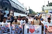 ریاست آندھرا پردیش میں نماز جمعہ کے بعد فرانس کے صدر کے خلاف احتجاج اور مذمتی بیانات