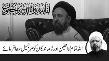 قوم ایک شفیق انسان ایک معتدل اہلِ علم وحدتِ امت کے داعی شخصیت سے محروم ہوگئ، علامہ محمد امین شہیدی