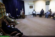 بالصور/ لقاء أعضاء الكتلة البرلمانية حول القضية المهدوية بآية الله الأعرافي بقم المقدسة