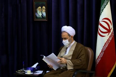 تصاویر/ دیدار اعضای فراکسیون مهدویت مجلس شورای اسلامی با آیت الله اعرافی