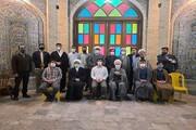 تصاویر/ حضور رئیس دفتر مقام معظم رهبری در قم در مدرسه علمیه امام صادق(ع) کرمانشاه