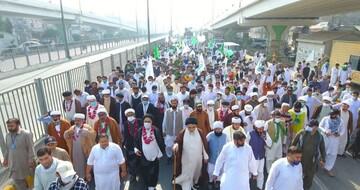 بالصور/ مسيرة وحدة الأمة الإسلامية في لاهور باكستان