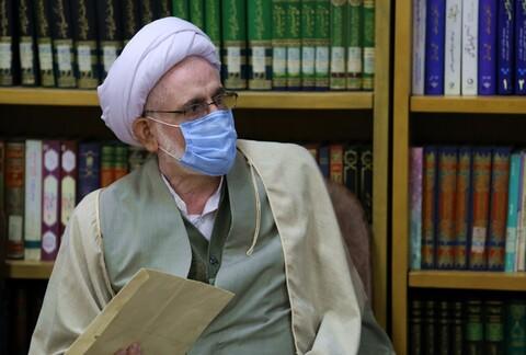 تصاویر/ دیدار اعضای بسیج اساتید و نخبگان حوزه علمیه با آیت الله اعرافی