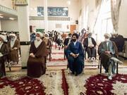 تصاویر/ تجمع اعتراضی طلاب و روحانیون شهرستان فلاورجان در پی اهانت به ساحت مقدس پیامبر اسلام