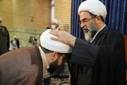 تصاویر/ مراسم جشن و عمامه گذاری در مرکز فقهی ائمه اطهار(ع)