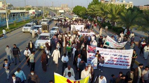 تظاهرات مردم نجف اشرف در محکومیت اهانت به نبی اکرم (ص) با حضور امام جمعه نجف