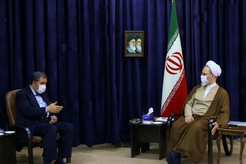 تصاویر/ دیدار دبیر مجمع تشخیص مصلحت نظام با آیت الله اعرافی